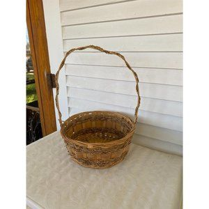 round woven basket with handle home decor Easter g